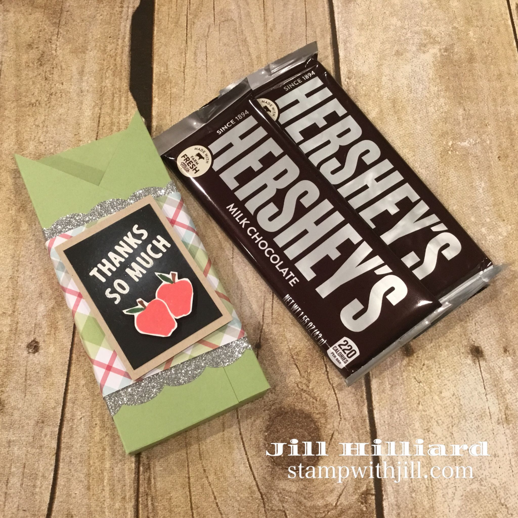 Hershey bar treat holder