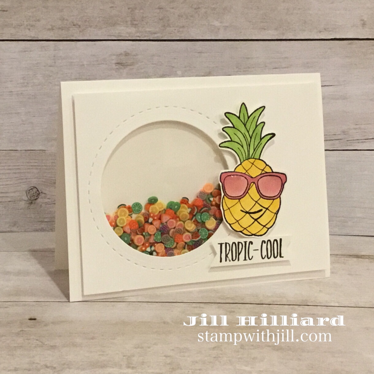 Tropic-Cool shaker card, slice-fetti