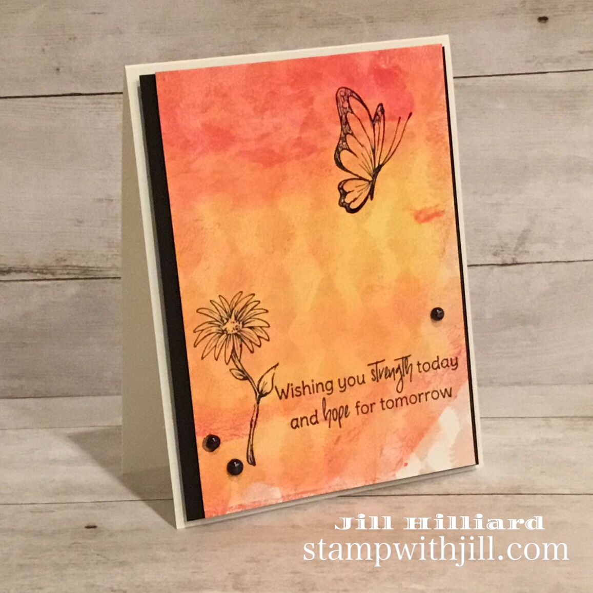 gel press card, strength and hope