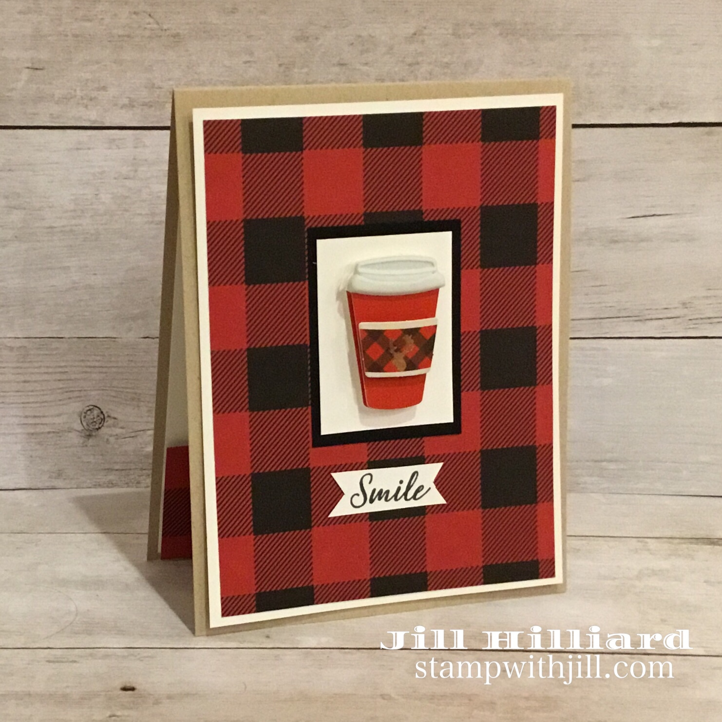 coffee gift card holder, Fun Stampers Journey, Jill Hilliard