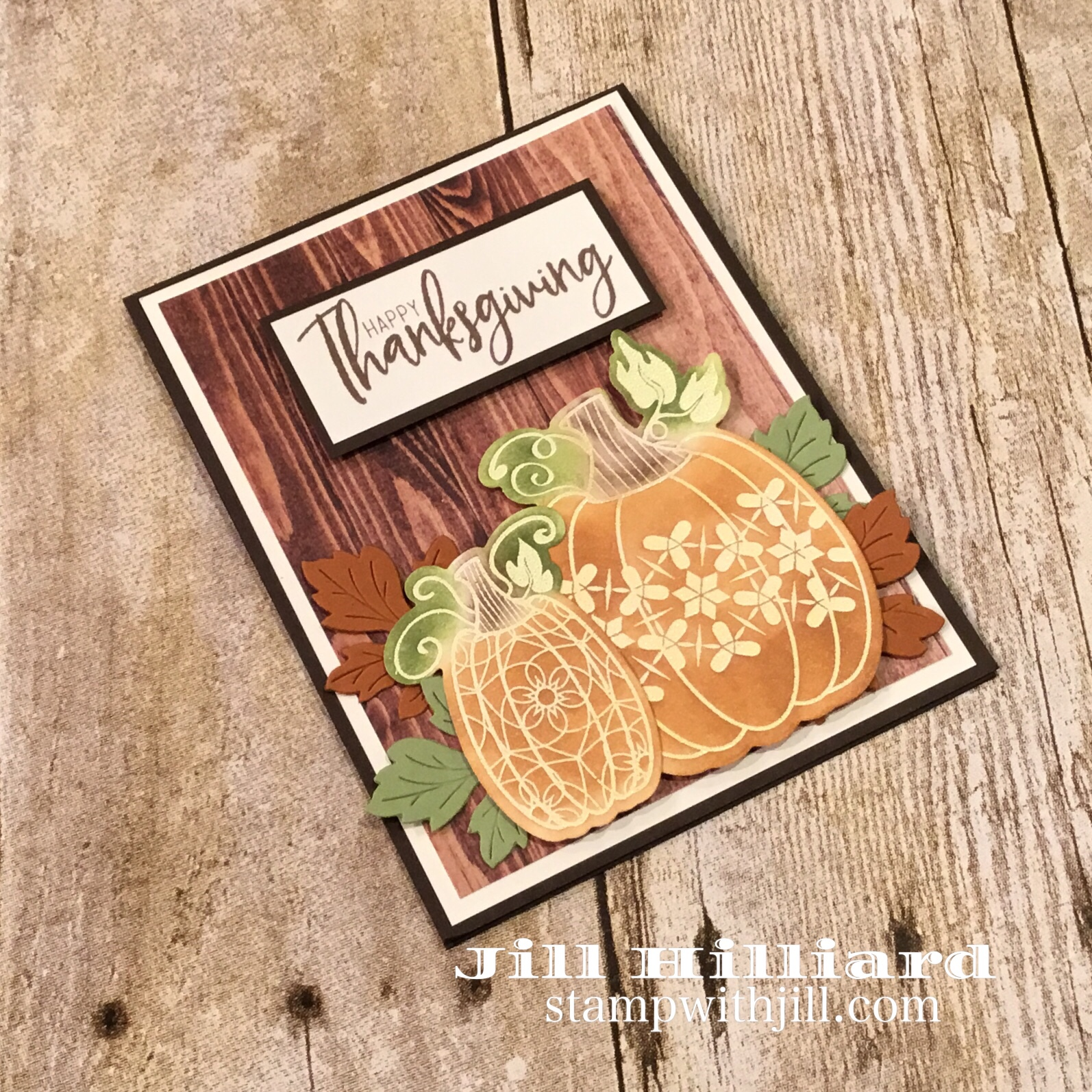 Martha's Pumpkins, Fun Stampers Journey, Jills Card creations