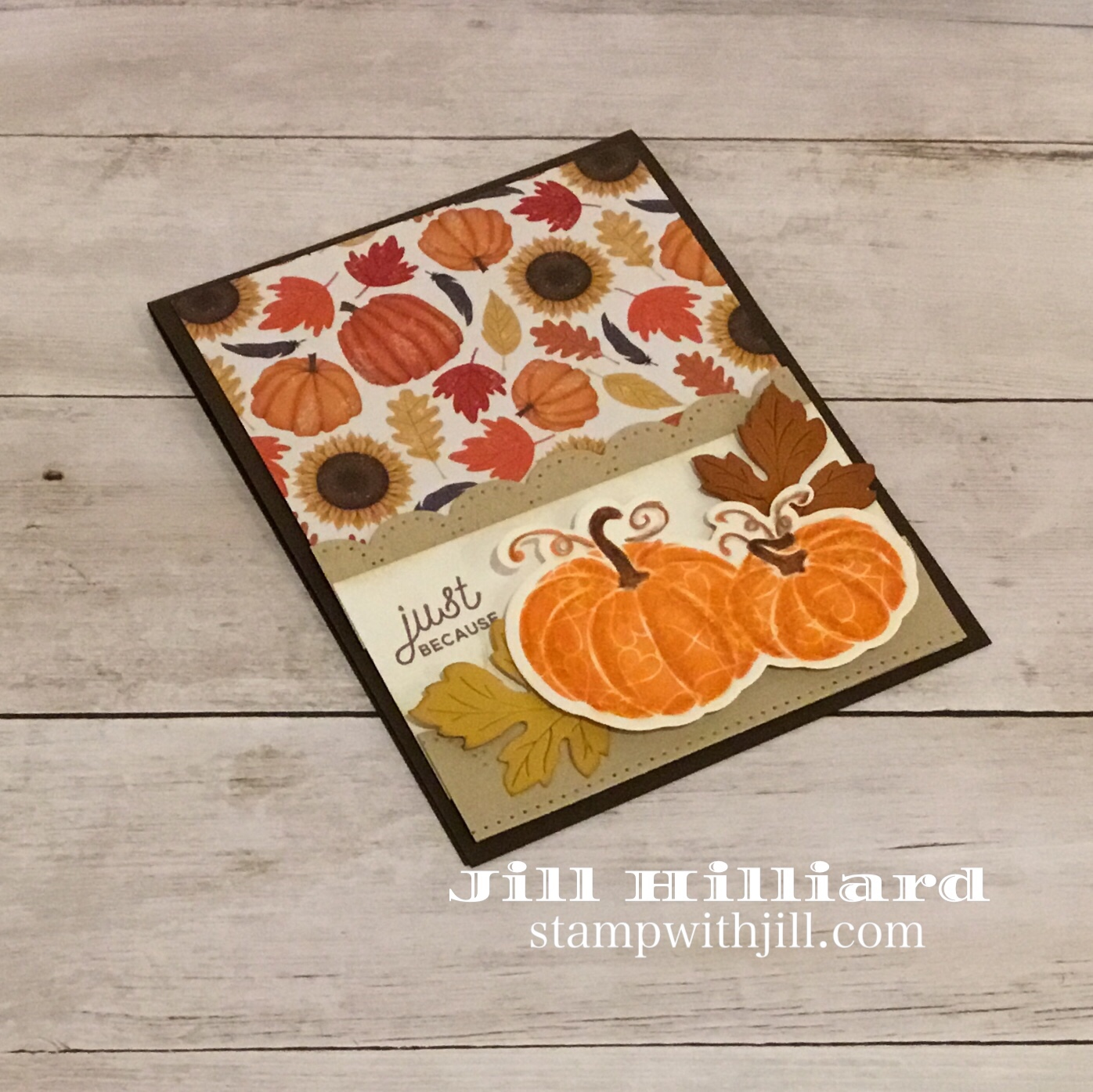 Fall Pumpkin card, Fun Stampers Journey, Marthas Pumpkins, Jills card Creations