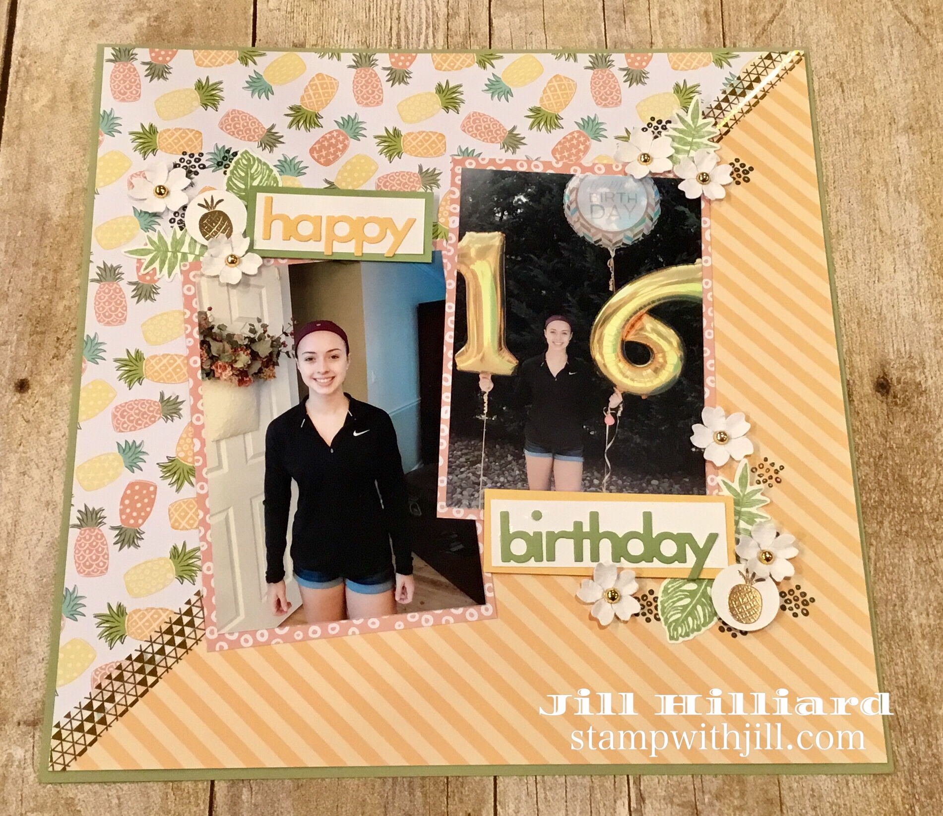 birthday scrap page