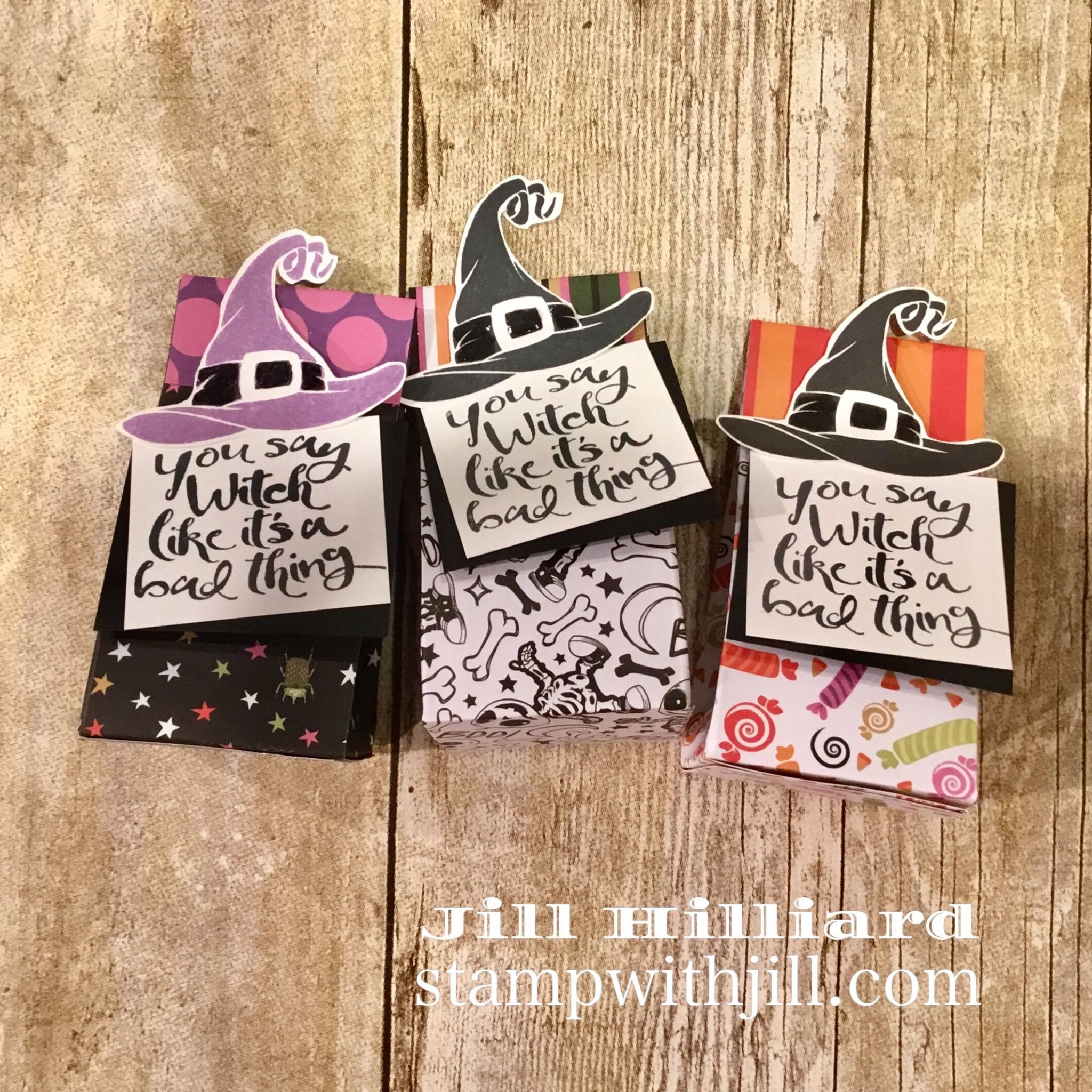 2-4-6-8 candy box, Stamp with Jill Fun Stampers Journey, Bad Witch
