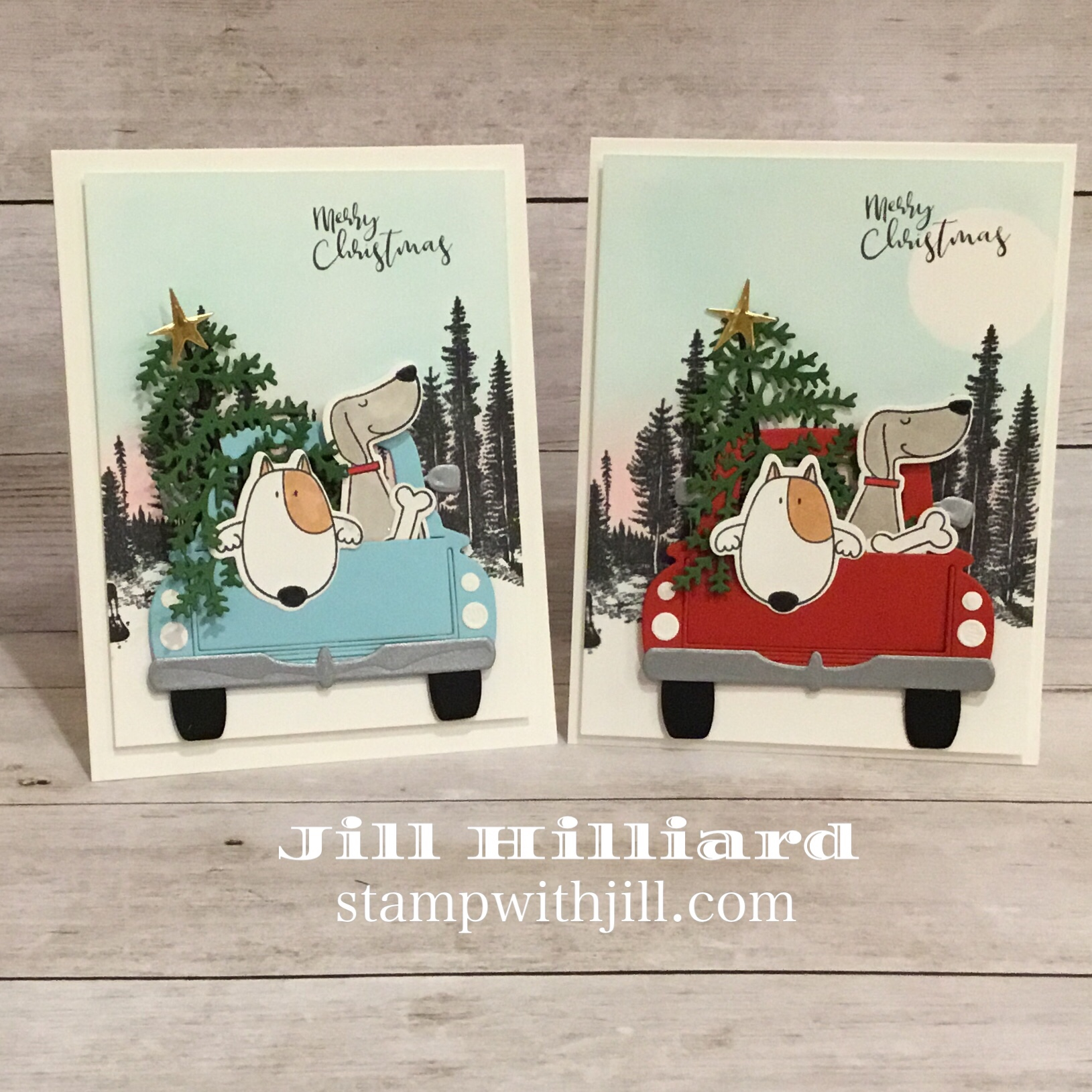 Truckin through the seasons, Stamp with Jill, Spellbinders-FSJ Large Die club