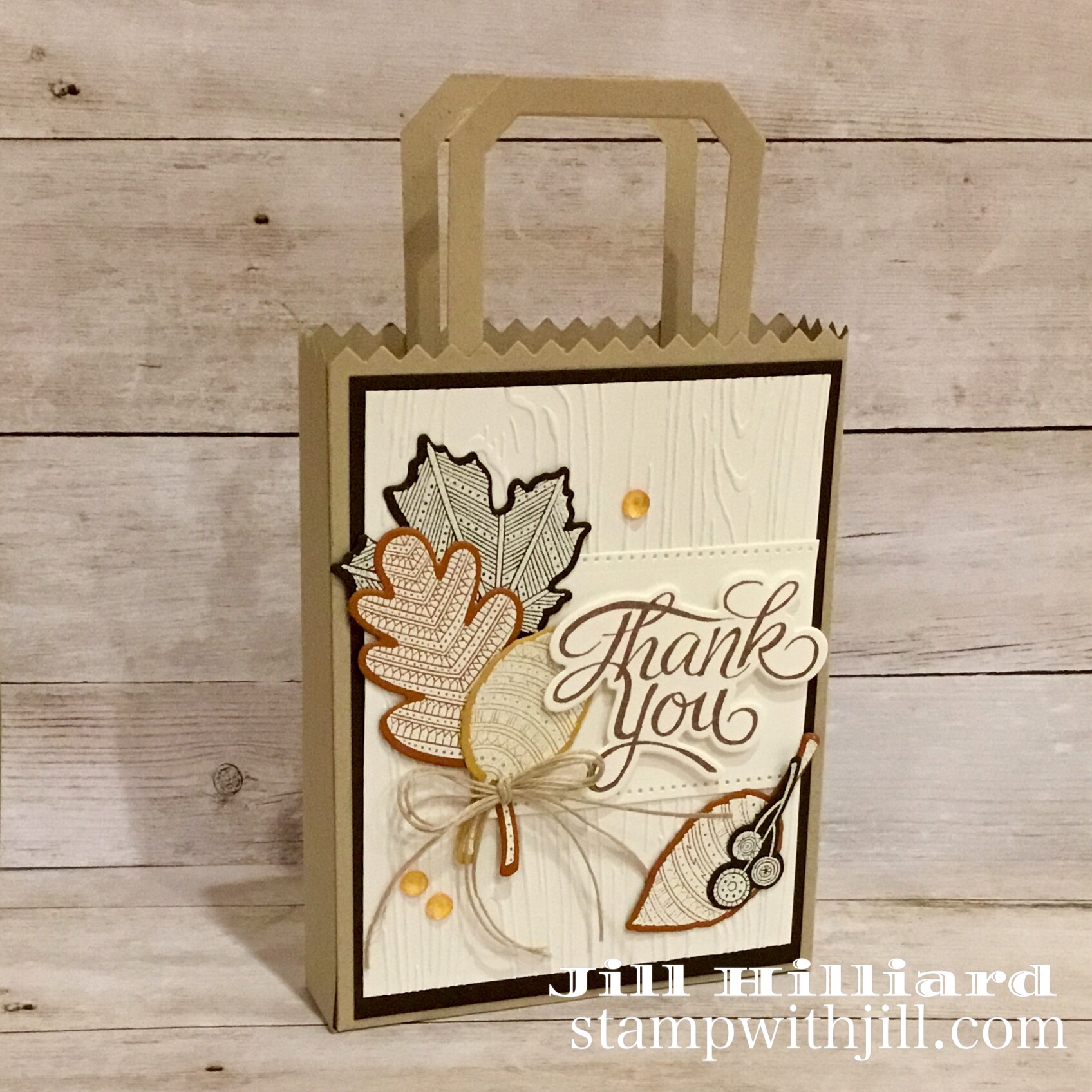 Fall Note Card Set, Stamp With Jill, Fun Stampers Journey, Card Carrier Die