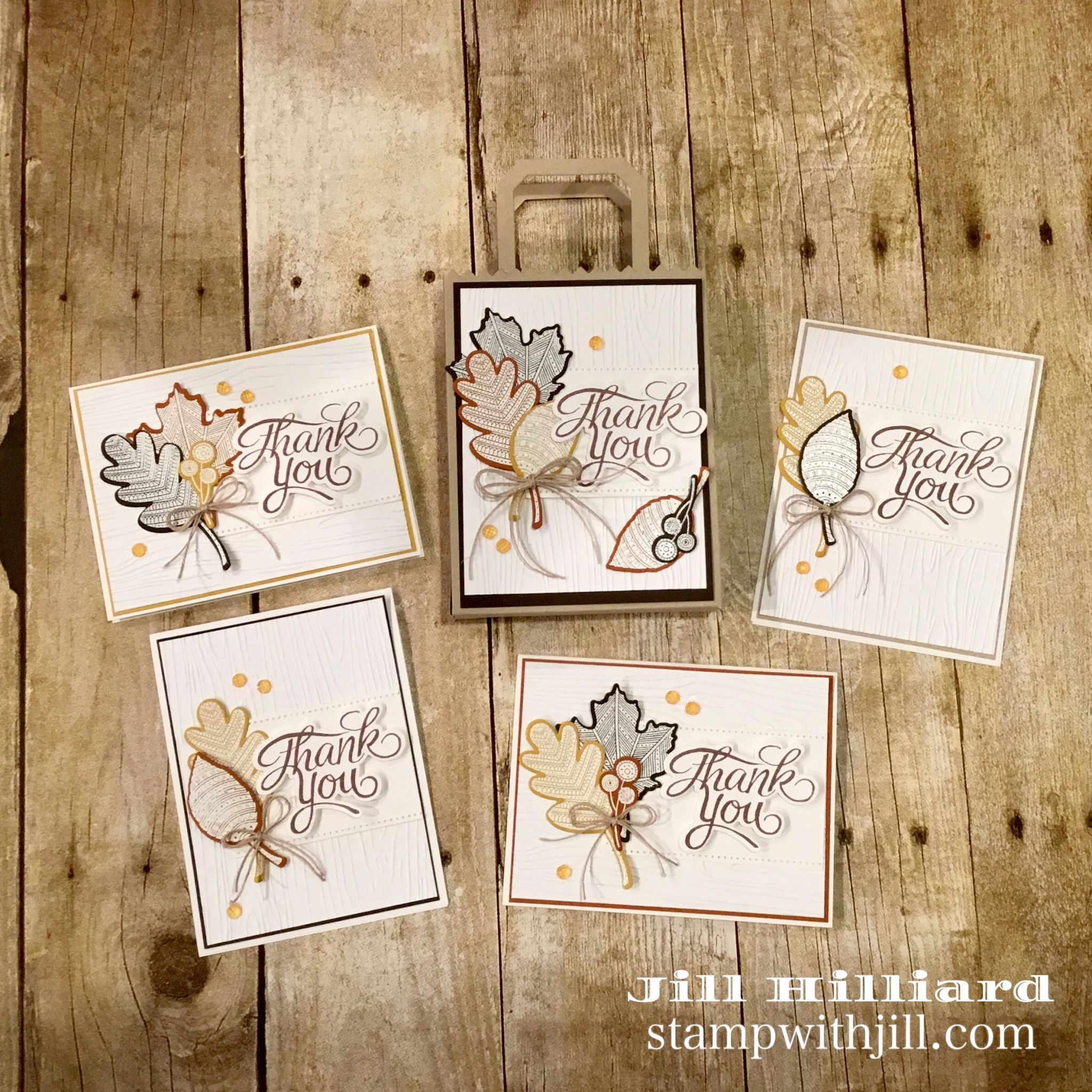 Fall Note Card Set, Stamp With Jill, Fun Stampers Journey