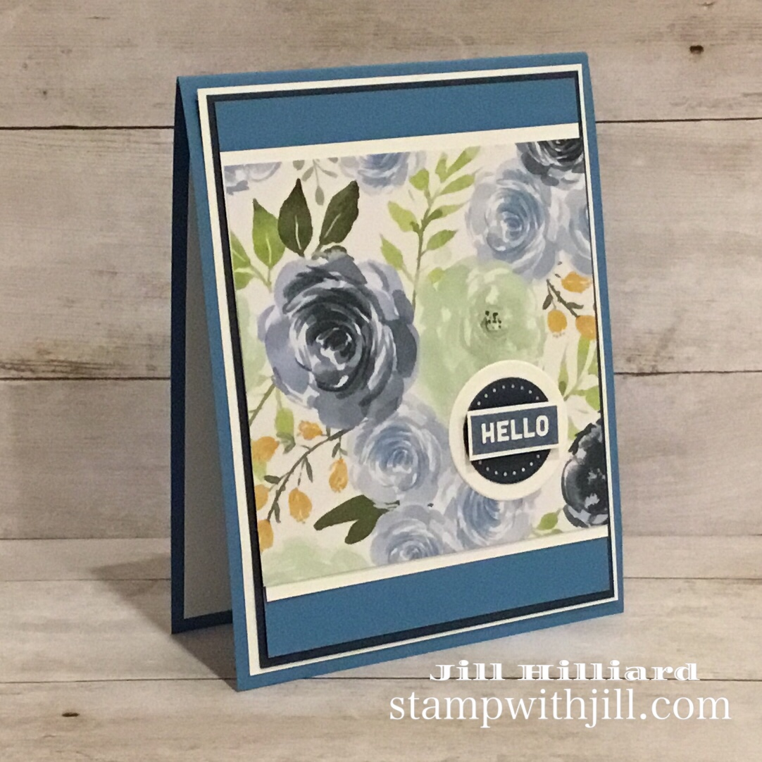 Use your pretty papers Part 3, Stamp with Jill