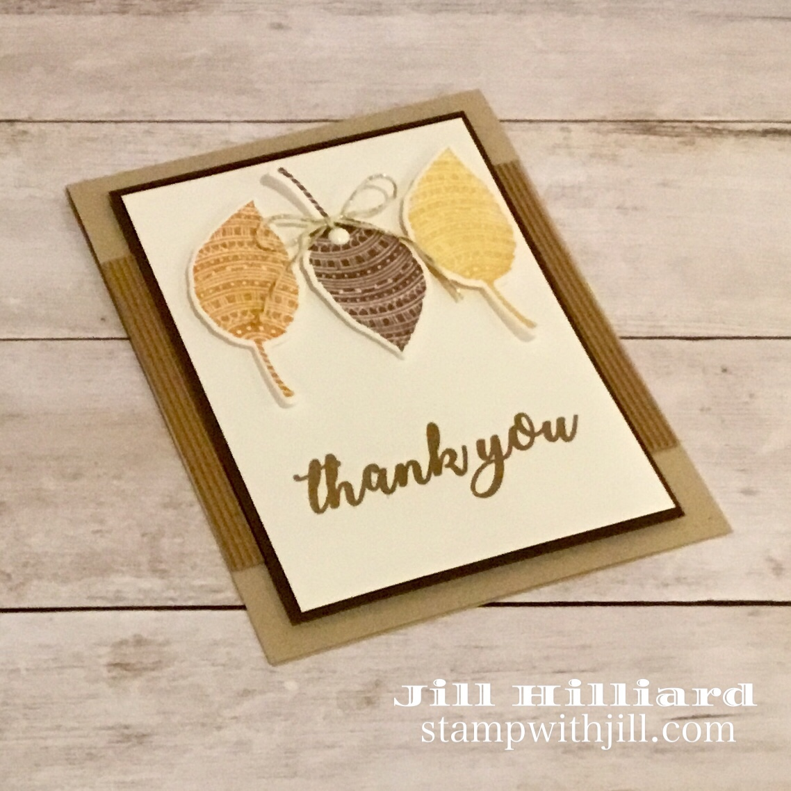 Zen Leave and Gold Heat Embossing, Fun Stampers Journey, Jill Hilliard, Stamp with Jill