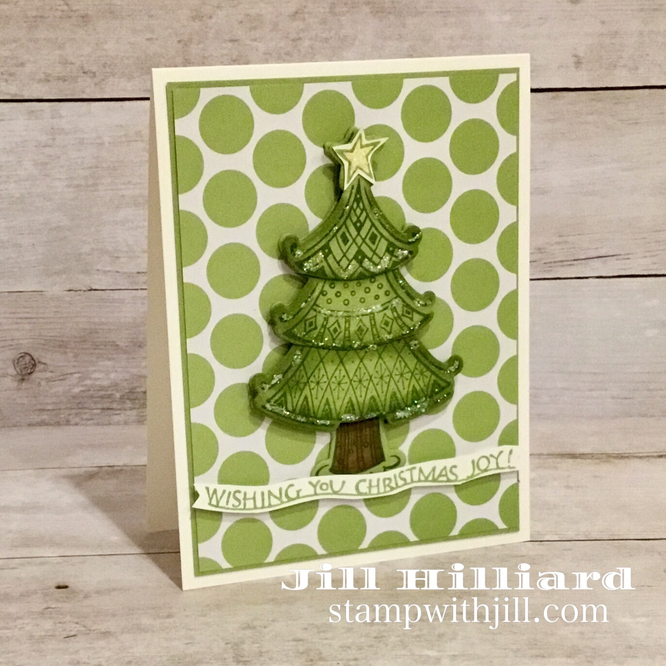 Christmas Joy, Spellbinders FSJ, Stamp with Jill Christmas card