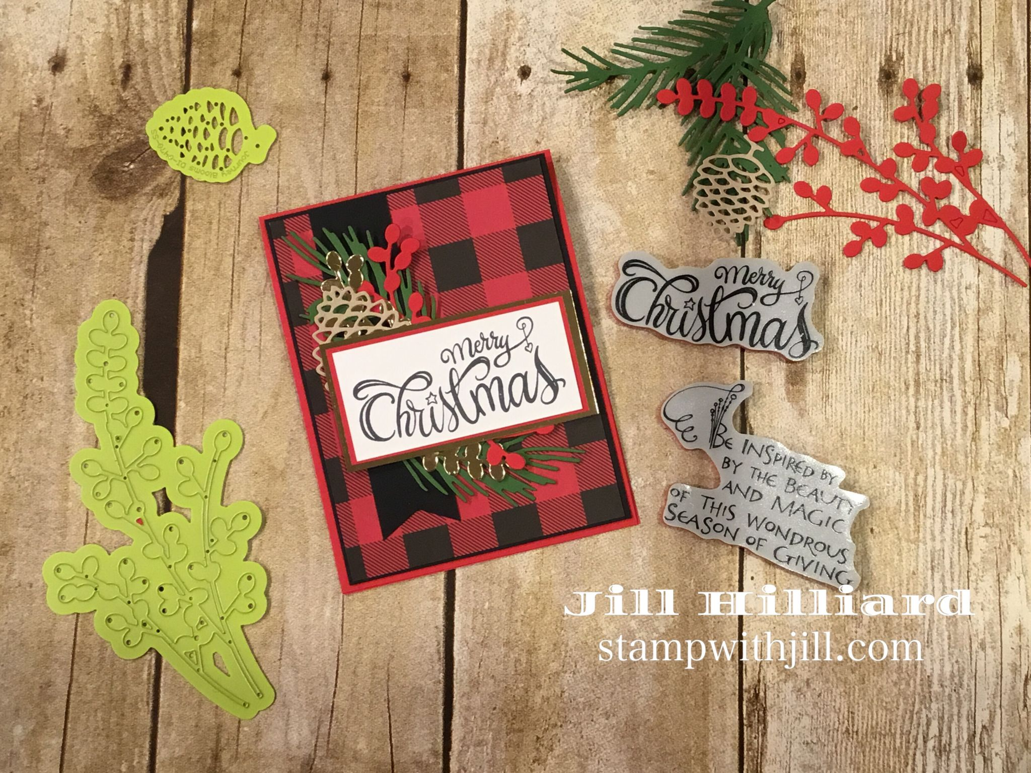 Zenspired Christmas Sentiments, Spellbinders FSJ. Stamp with Jill