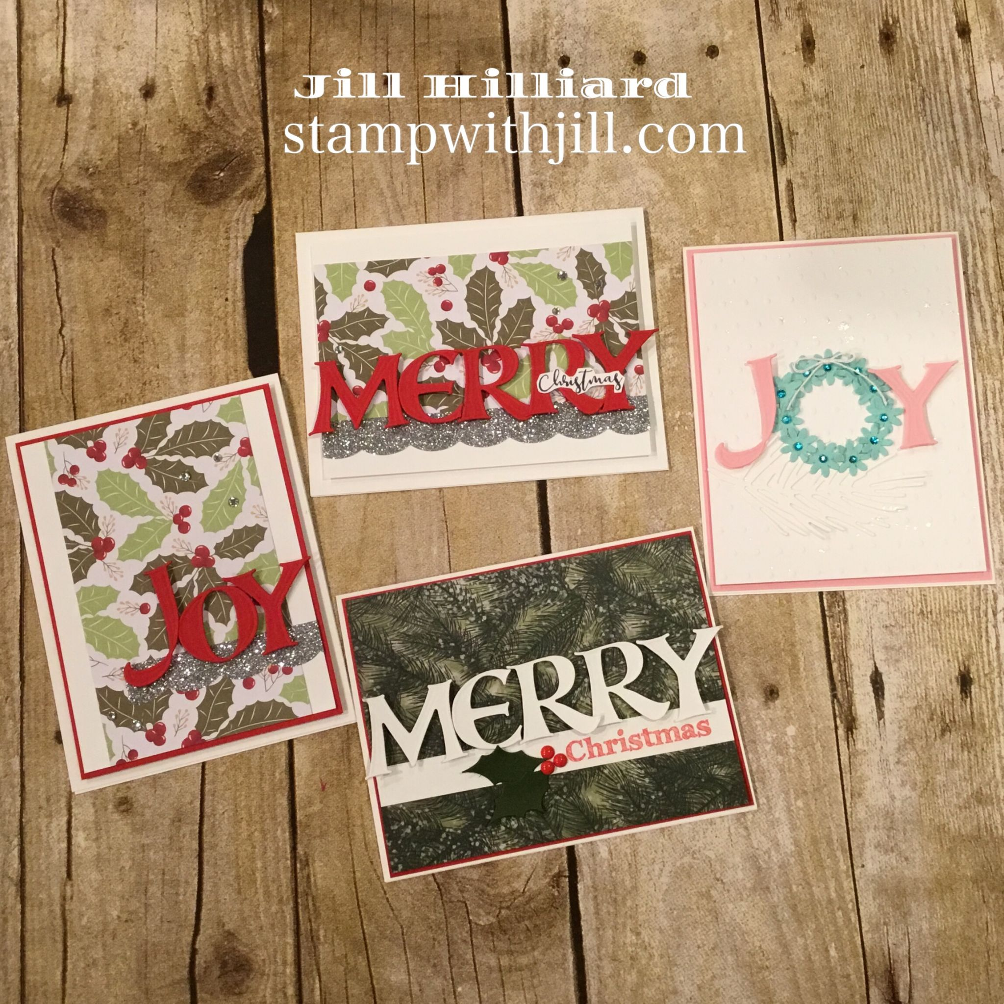 alphabet dies christmas cards, stamp with jill, spellbinders FSJ