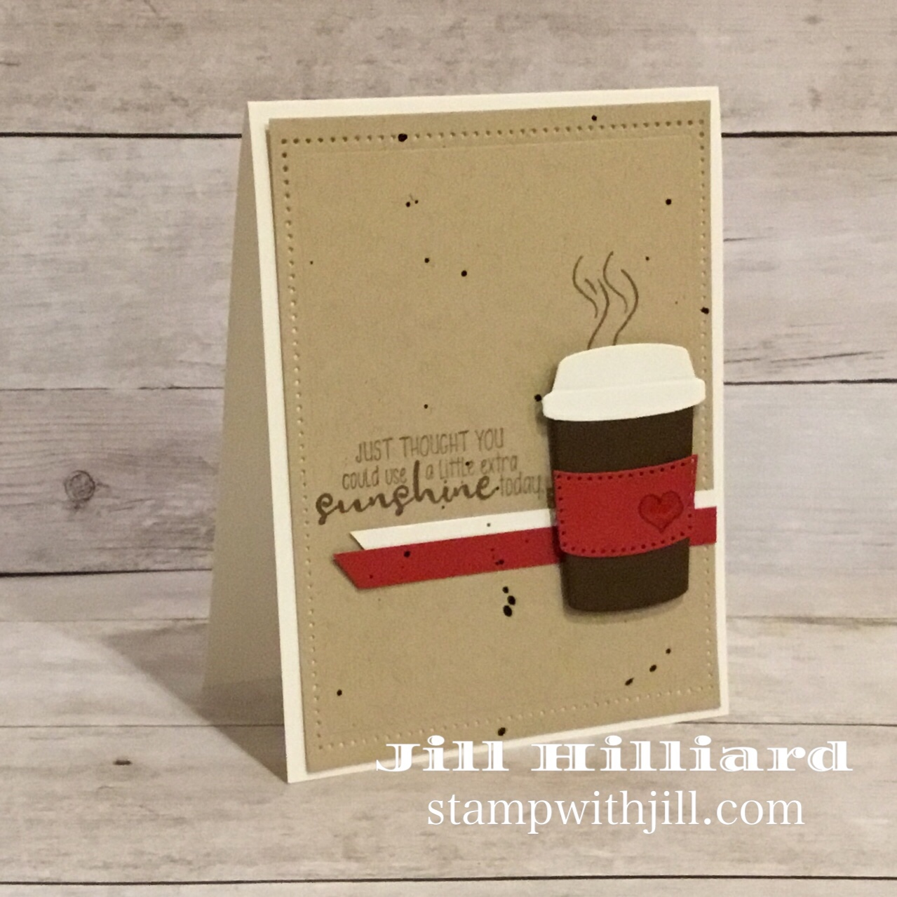 coffee first die set, Spellbinders FSJ, Inside and Out, Stamp with Jill