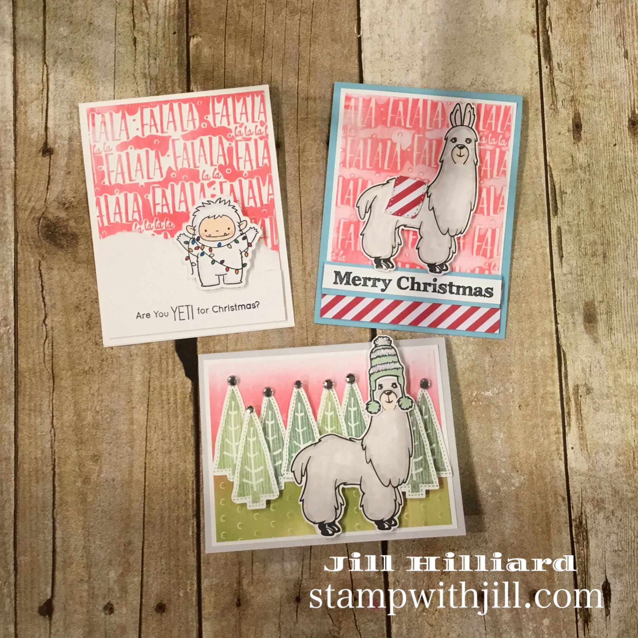 Gel press, Christmas cards, Stamp with Jill