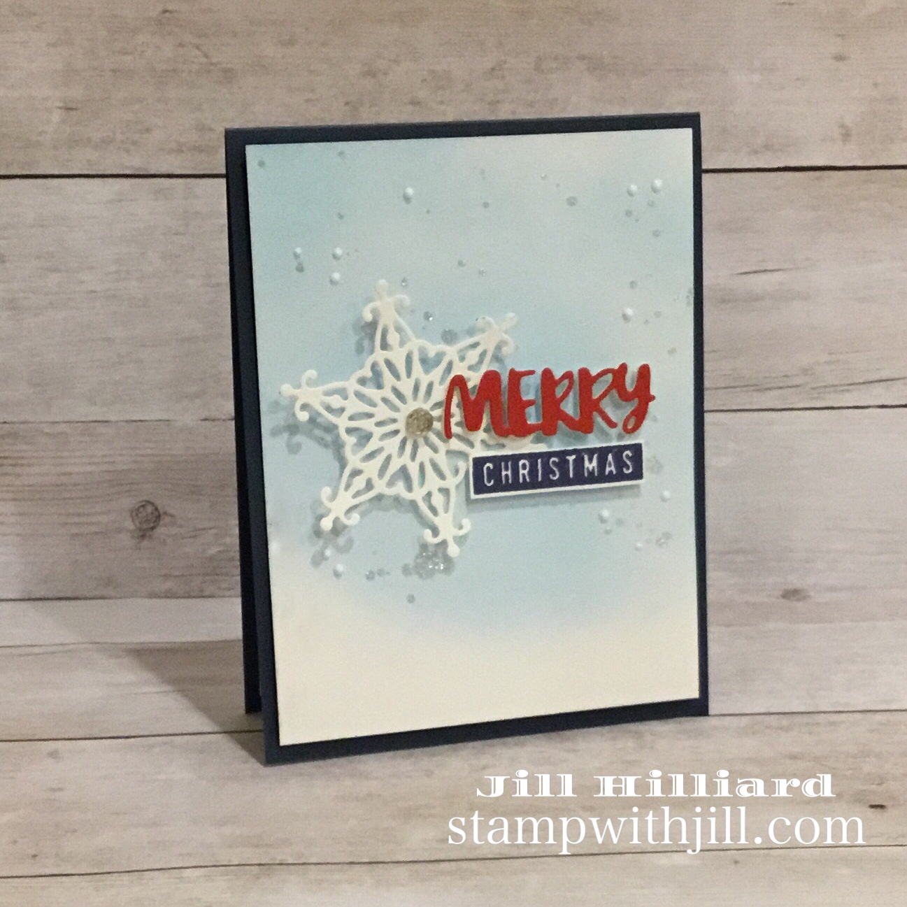 spellbinders die of the month dec 2018, stampwithjill christmas card