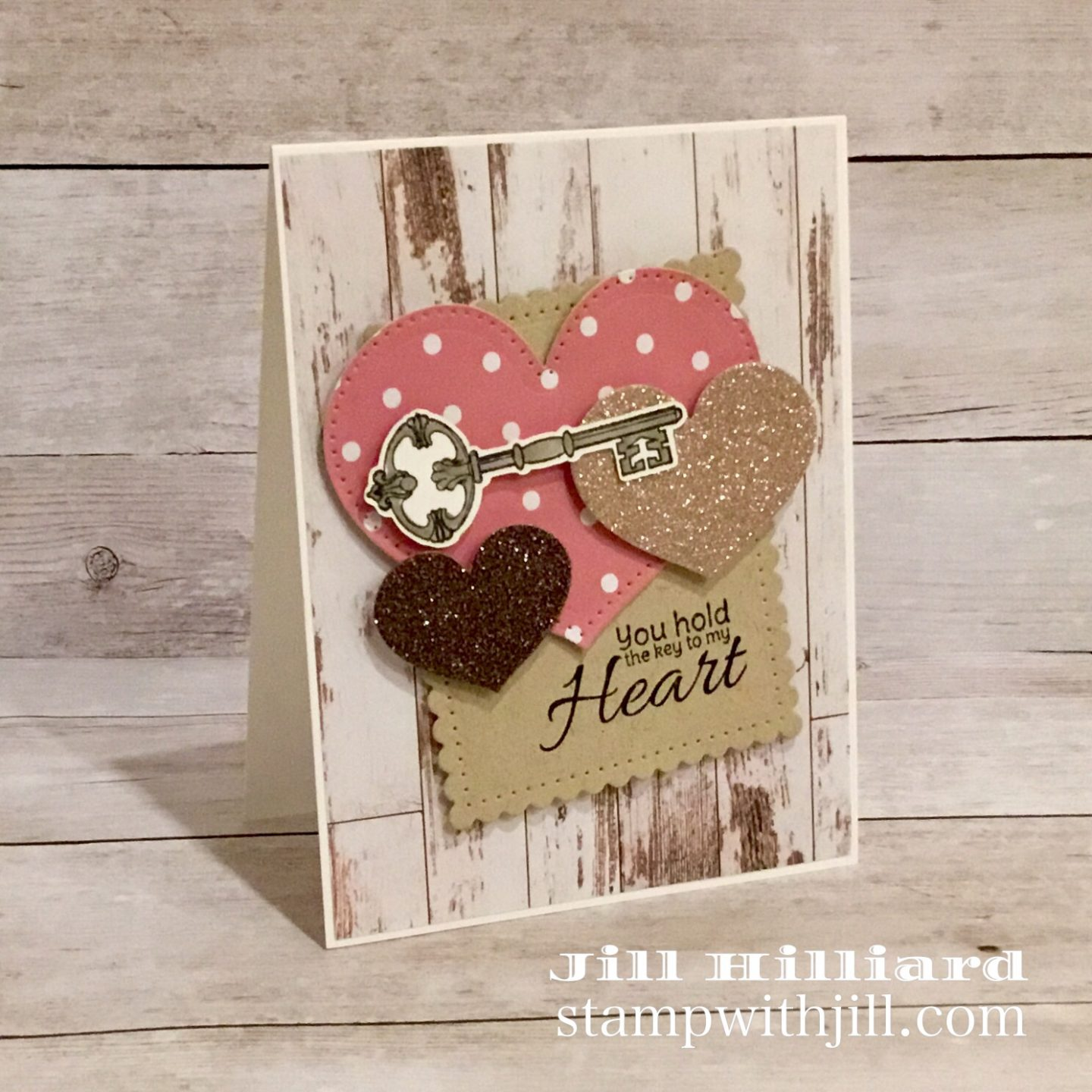 Key to My heart, January Stamp of the Month from Spellbinders FSJ, Stamp with Jill