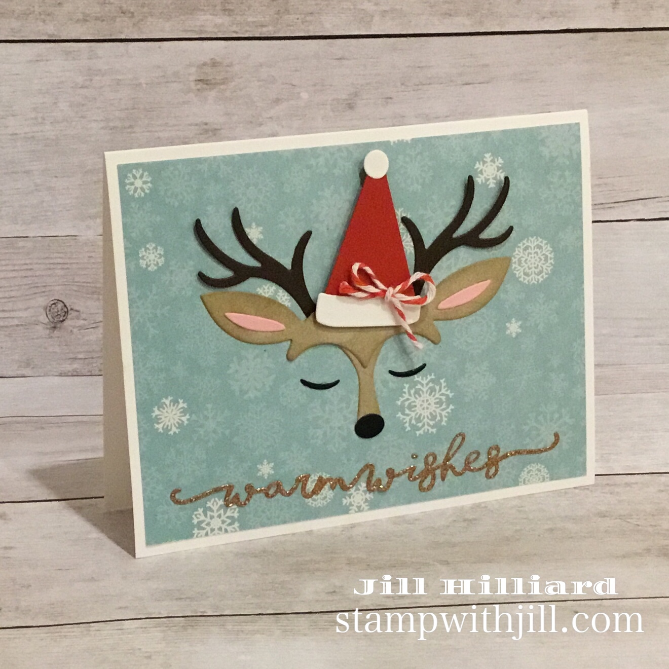 Spellbinders card kit and reindeer builder kit die set, Stamp with Jill