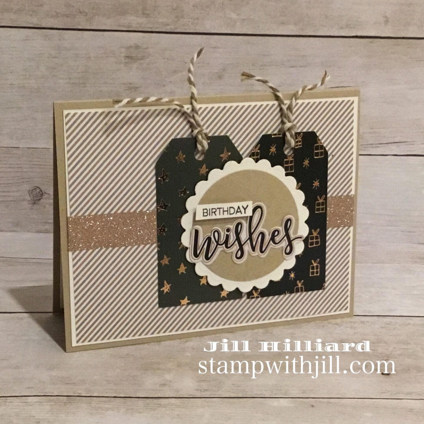 Winter Wishes Spellbinders Card Kit, Stamp WIth Jill