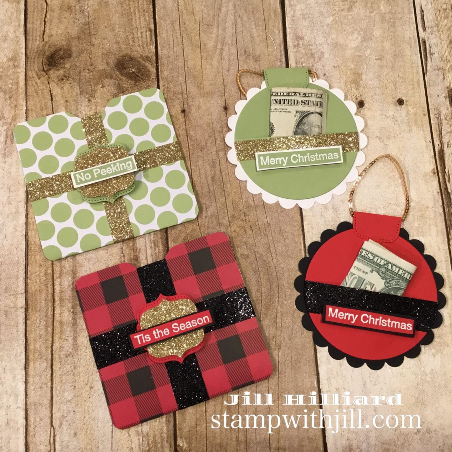 Stamp with Jill, Christmas Money holders, Last minute gifts
