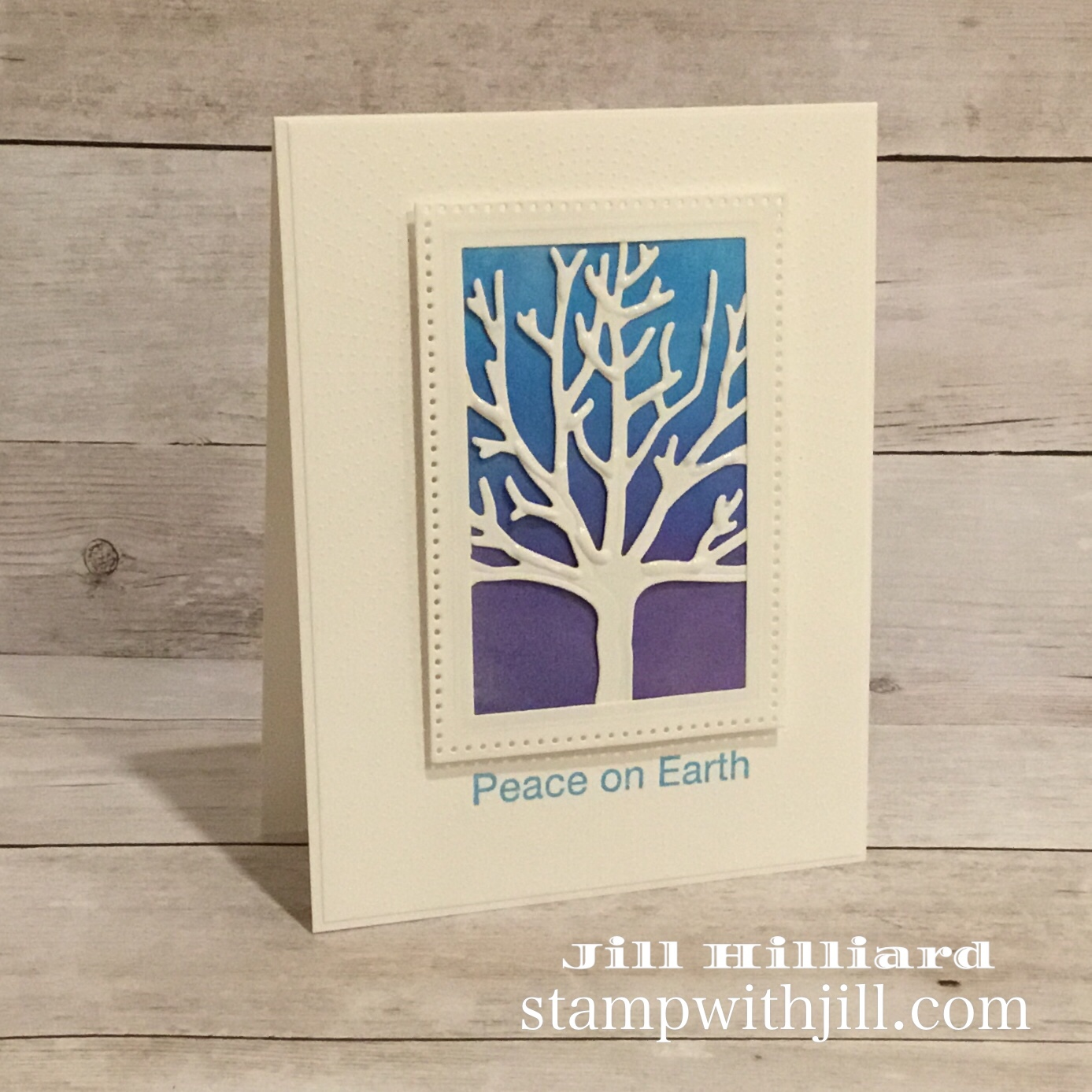 Stamp with Jill, The Four Season tree, Spellbinders