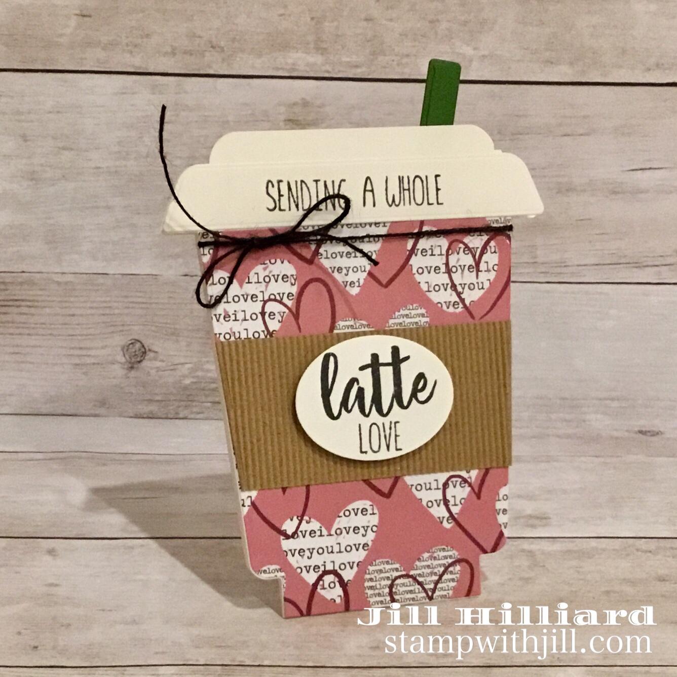 Stamp with Jill, Honeybee Stamps Frappe Shake Die coffee valentine cards