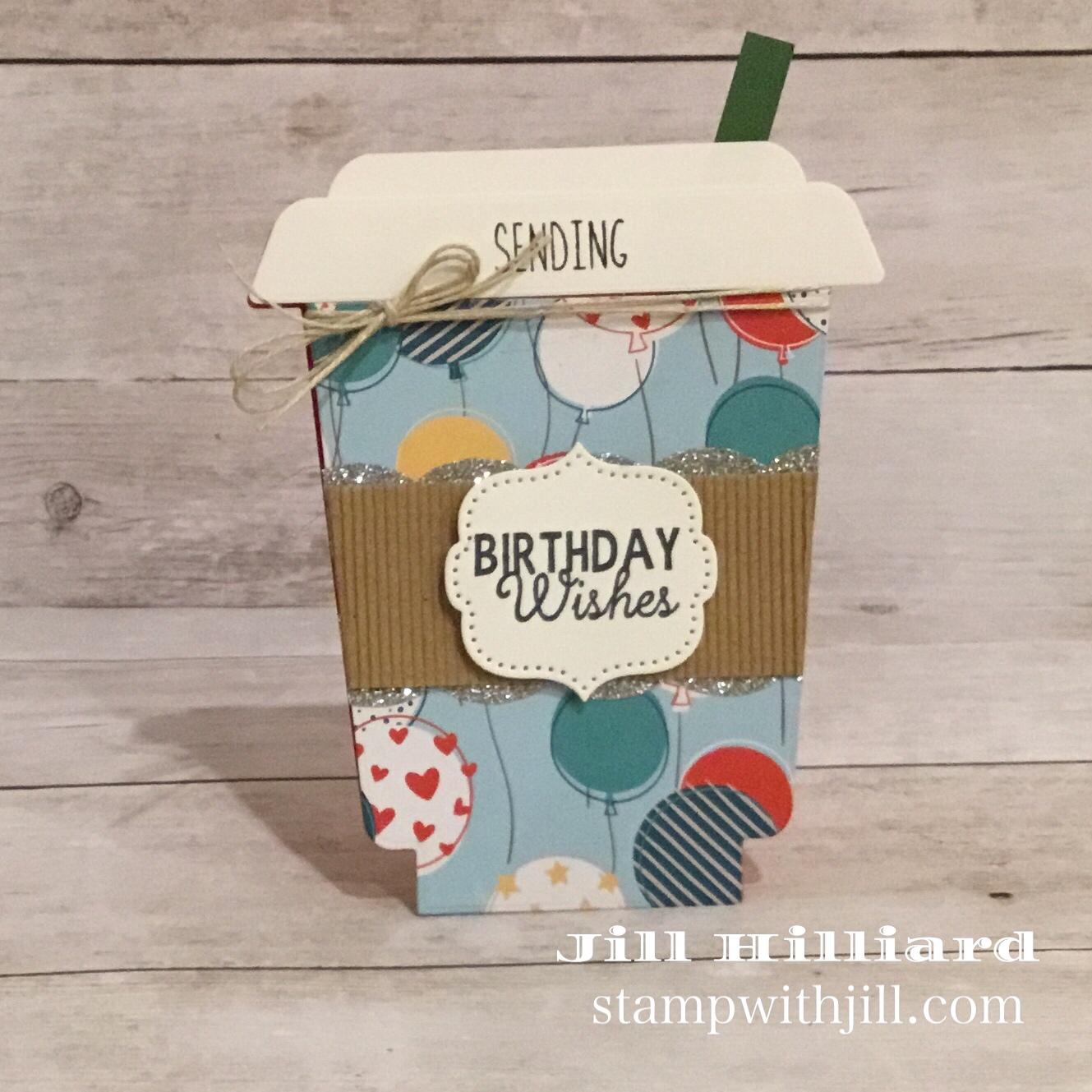 Stamp with Jill, Honeybee Stamps Frappe Shake Die coffee birthday cards