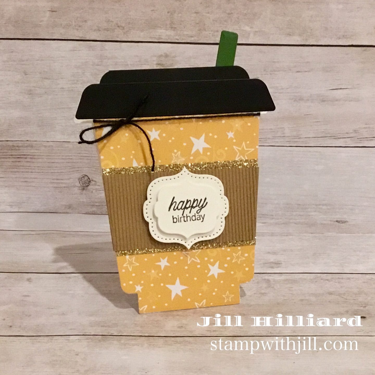 Stamp with Jill, Honeybee Stamps Frappe Shake Die coffee birthday cards