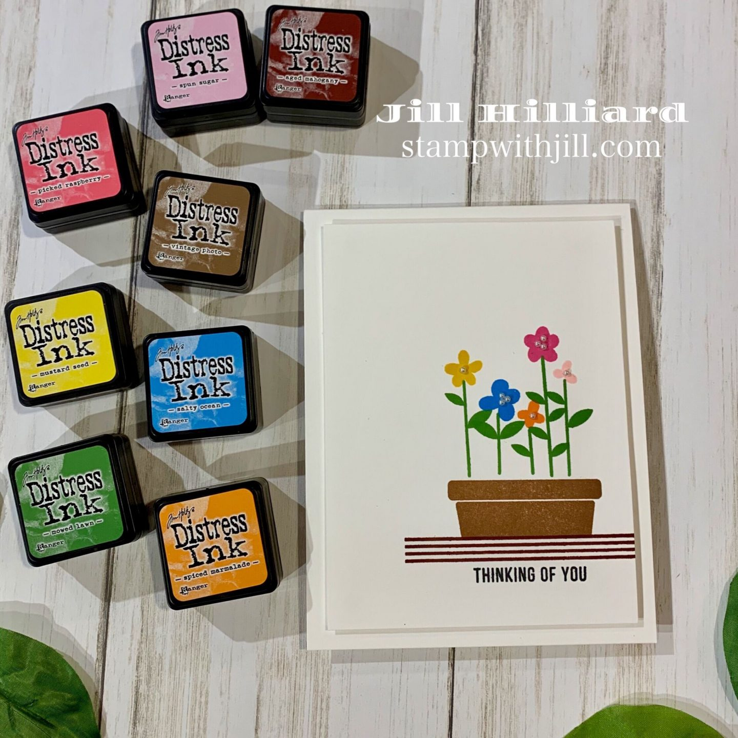 stamp with Jill, April 2019 SSS card kit Hello Darling