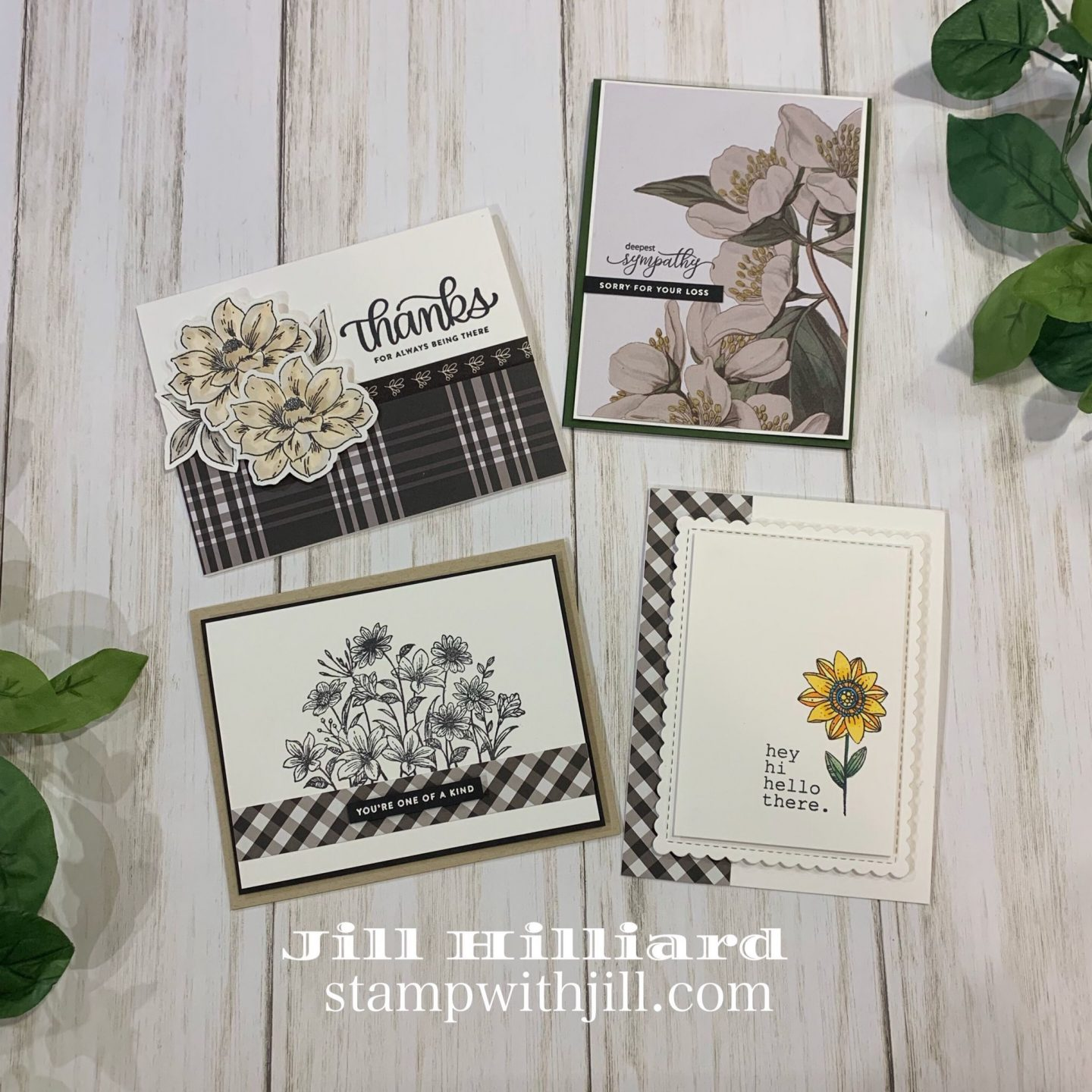 stamp with Jill, My Mind's Eye Gingham Farm collection cards