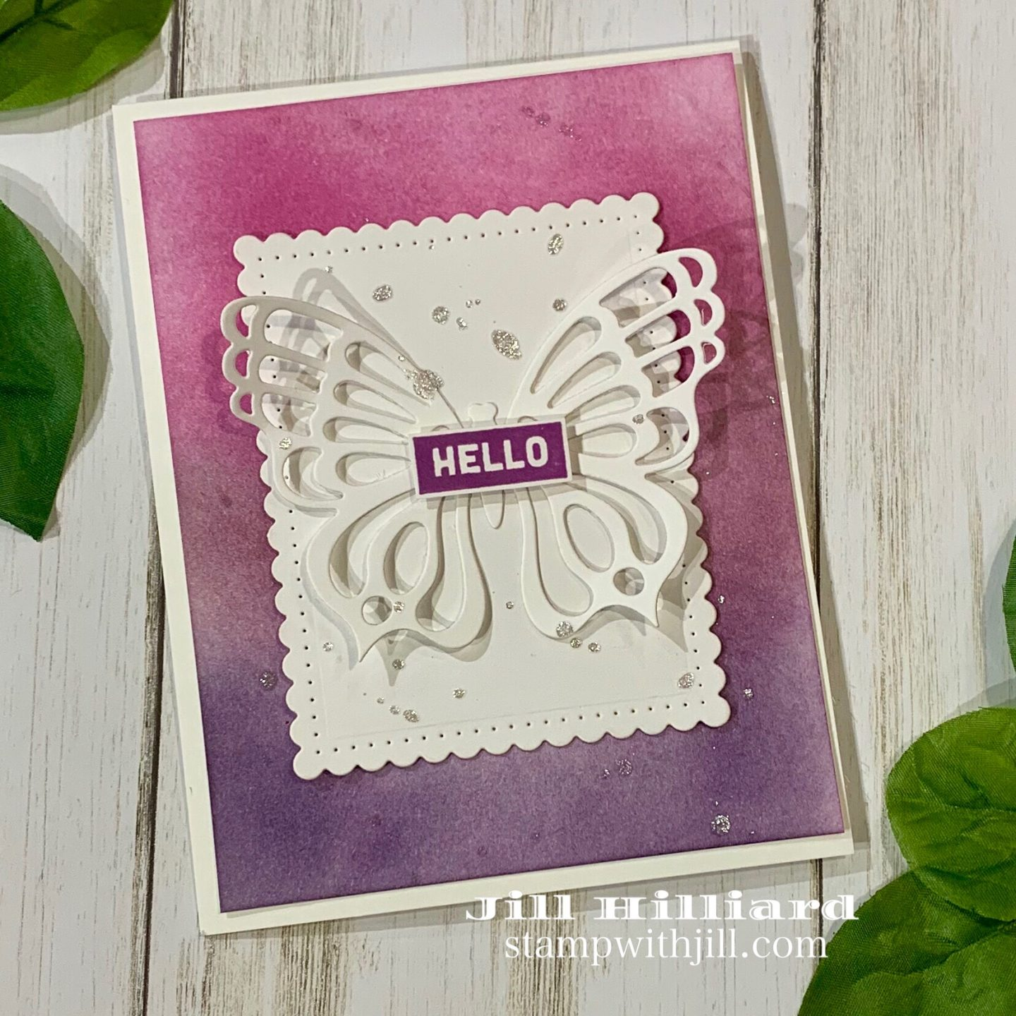 Stamp with Jill, Spellbinders Fancy Edged rectangles